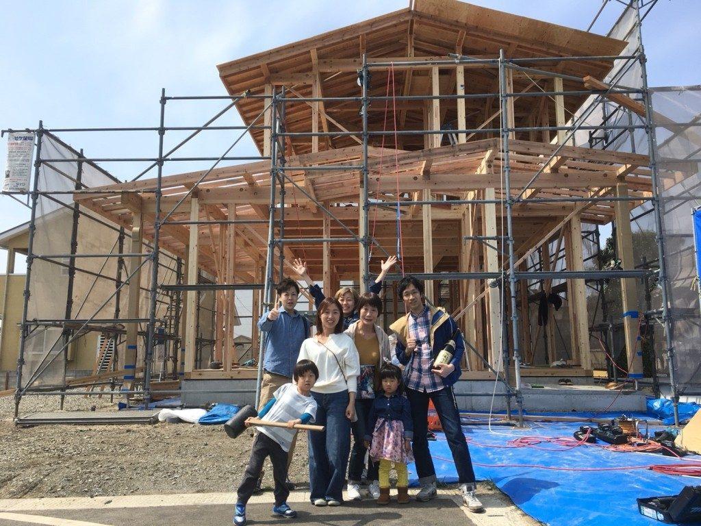 家が建つ瞬間